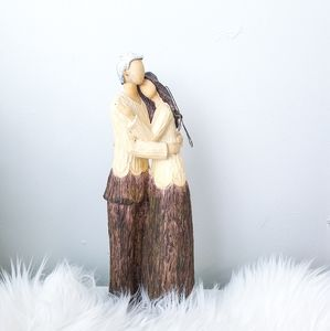 Lovers Decorative Wood Carving